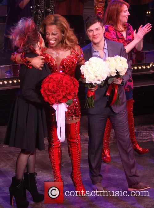 Cyndi lauper the broadway opening night of 39 kinky boots for Cyndi lauper broadway kinky boots
