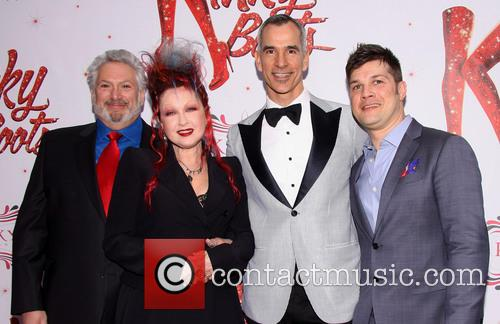Harvey Fierstein, Cyndi Lauper, Jerry Mitchell and Stephen Oremus 7