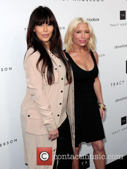 Kim Kardashian and Tracy Anderson 8
