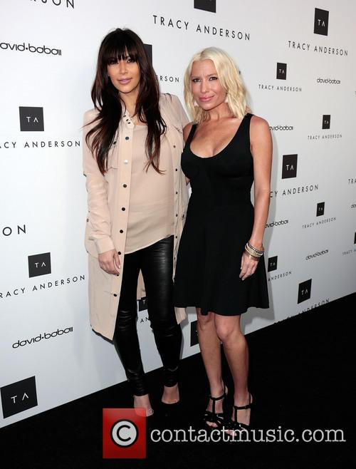 kim kardashian tracy anderson the opening of the 3587771