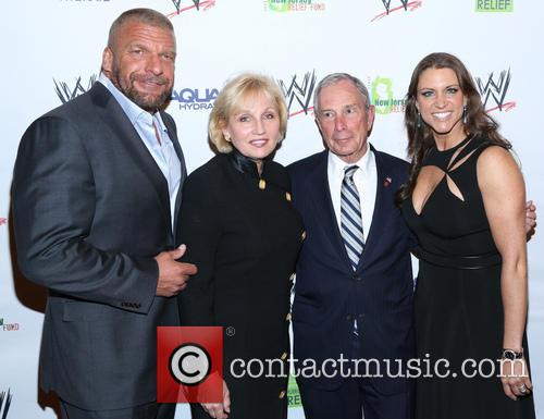 Paul 'triple H' Levesque, Kim Guadagno, Michael Bloomberg and Stephanie Mcmahon 2