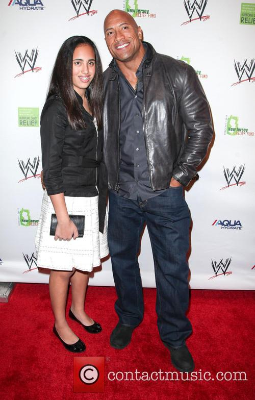 Dwayne Johnson, The Rock and Daughter 6