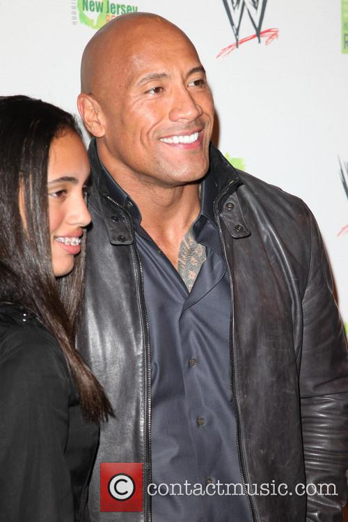 Dwayne Johnson, The Rock and Daughter 7