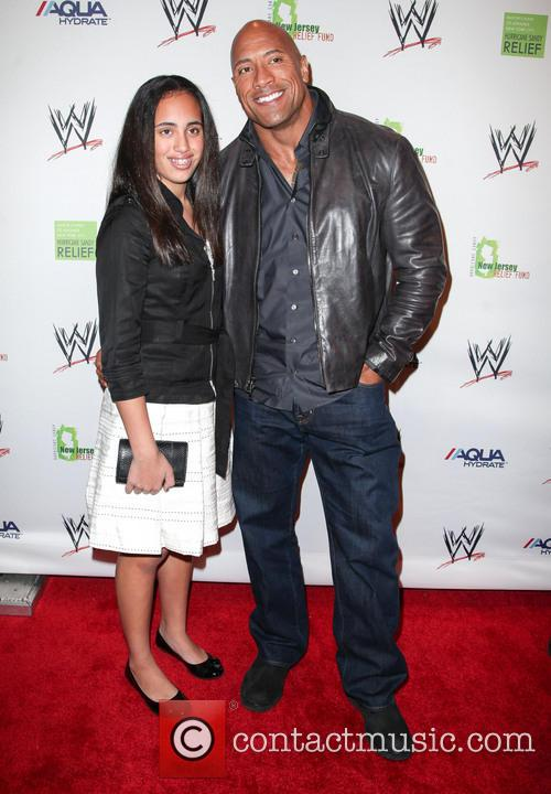Dwayne Johnson, The Rock and Daughter 9