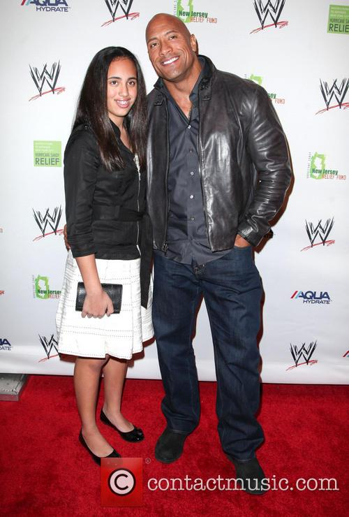 Dwayne Johnson, The Rock and Daughter 10