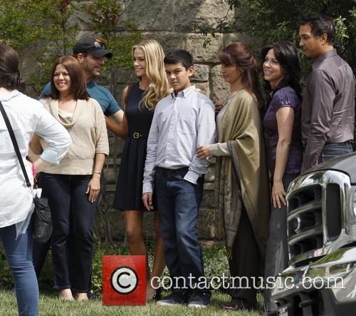 Denise Richards seen filming