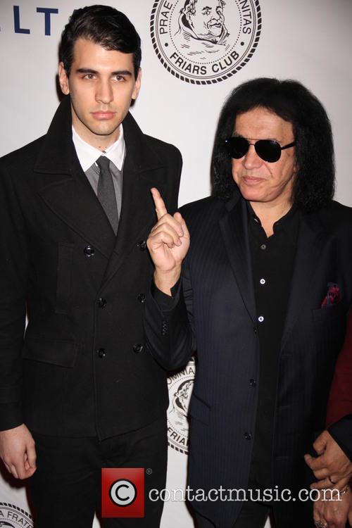 Nick Simmons and Gene Simmons 1