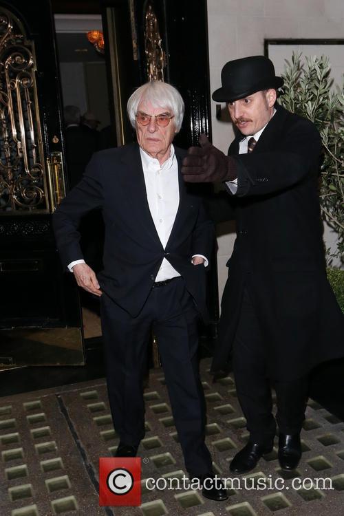 Tamara and Bernie Ecclestone leaving Scott's restaurant