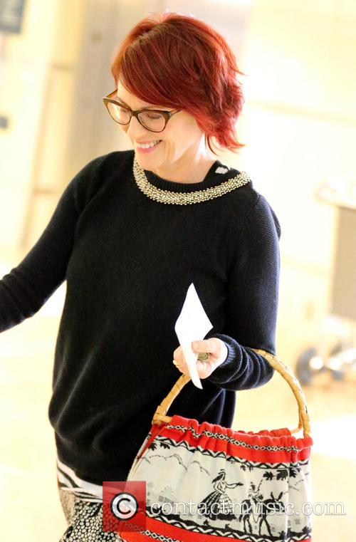 Megan Mullally arrives at LAX