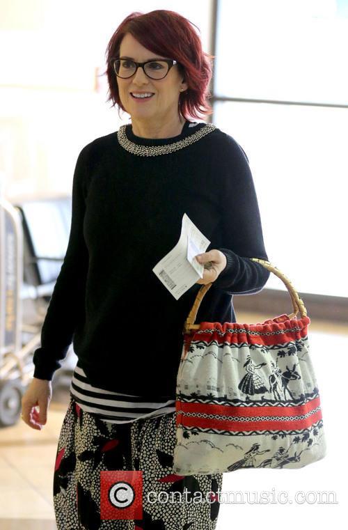 Megan Mullally arrives at LAX