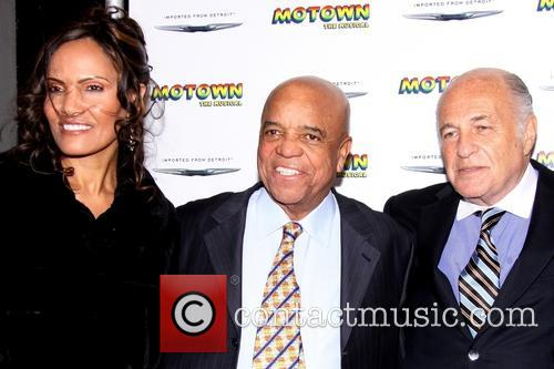 Eskedar Gobeze, Berry Gordy and Doug Morris 1