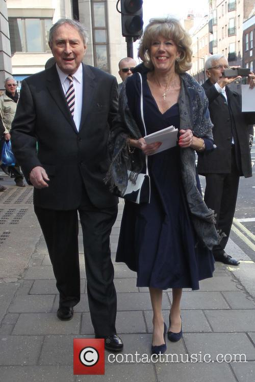 Guests and atmosphere at Helen Worth's wedding in...