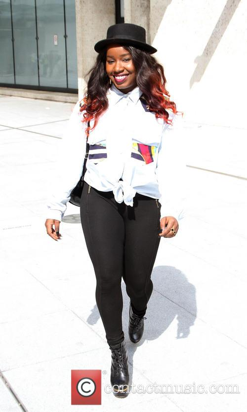 Misha B arrives at the BBC Radio 1...
