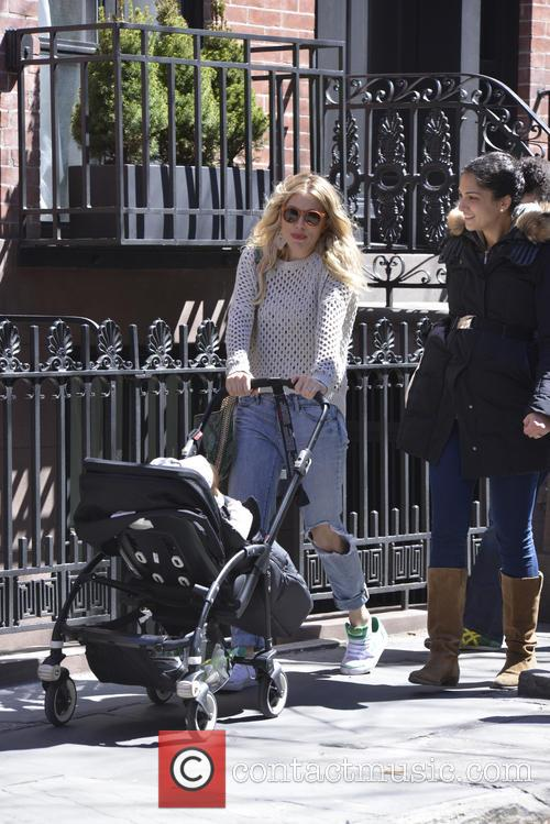 Sienna Miller and baby Marlowe are seen out...