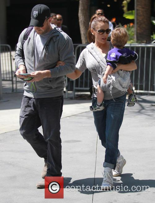 Alyssa Milano, Milo Thomas and David Bugliari 4