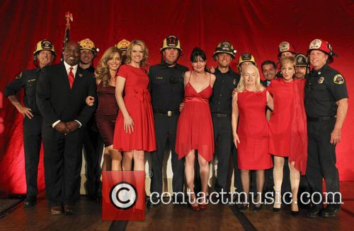 Missi Pyle, Pauley Perrette, Ann Greenspun and Firemen 4