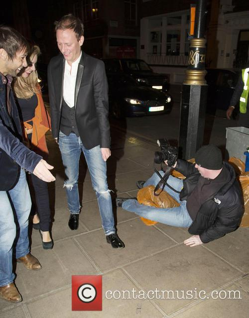 Sheridan Smith leaving the Groucho Club