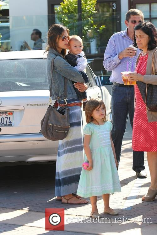 Alessandra Ambrosio along with her family at the...