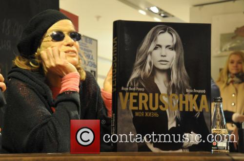 German model Veruschka von Lehndorff presents her book...