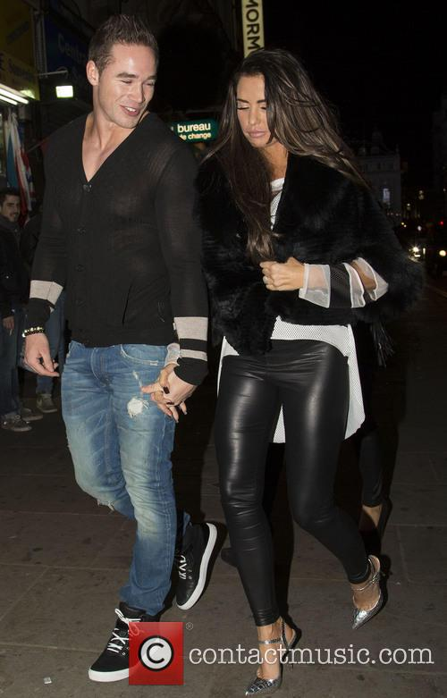 Pregnant Katie Price and husband Kieran Hayler leaving...