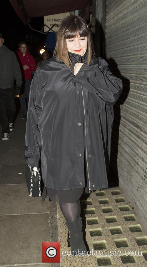 Dawn French leaving the Groucho Club