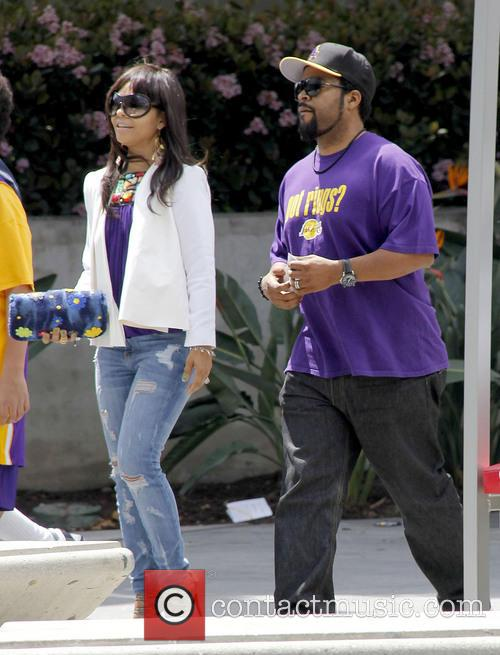 Ice Cube, Kimberly Woodruff and Shea 2