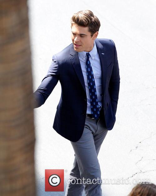 Actor Zac Efron is seen in a preppy...