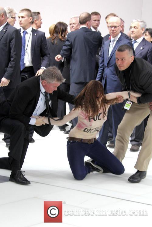 'Femen' Protest against Putin