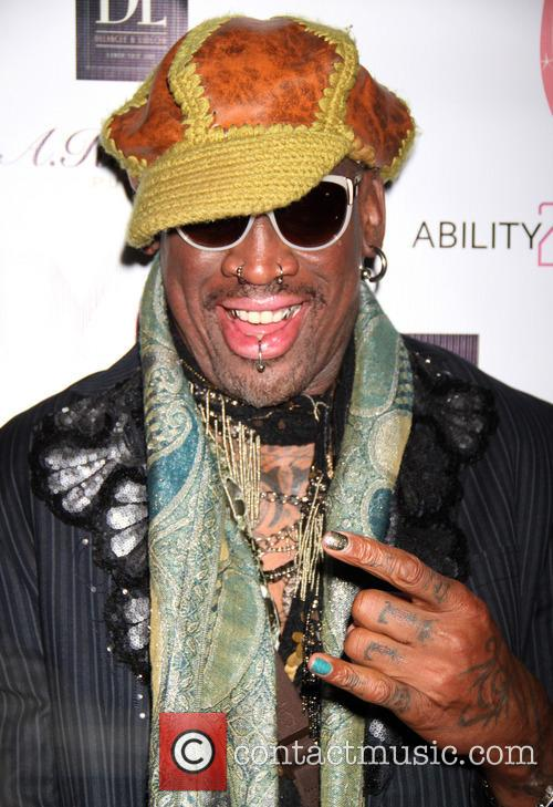 Dennis Rodman hosts Cara Quici's video release party