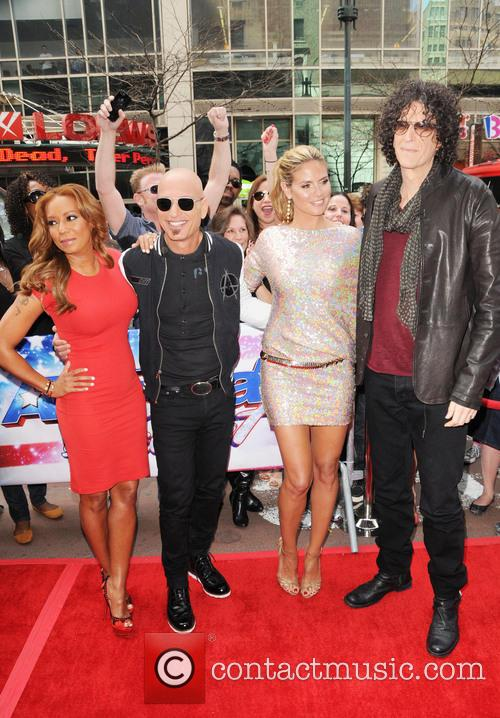 Melanie Brown, Mel B, Howie Mandel, Heidi Klum and Howard Stern 4
