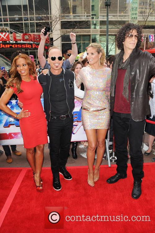 Melanie Brown, Mel B, Howie Mandel, Heidi Klum and Howard Stern 1