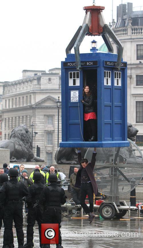 Jenna-Louise Coleman, Matt Smith, Trafalgar Square