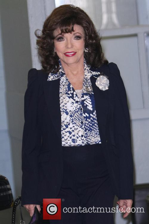 joan collins joan collins leaving the itv 3593807