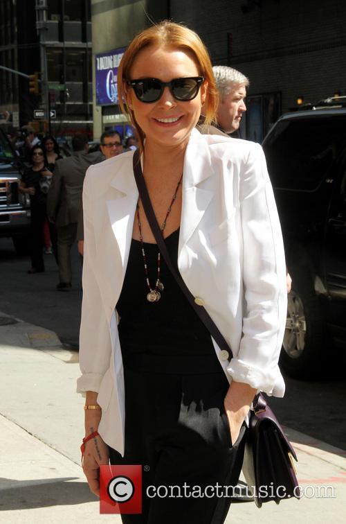 Lindsay Lohan Letterman 2