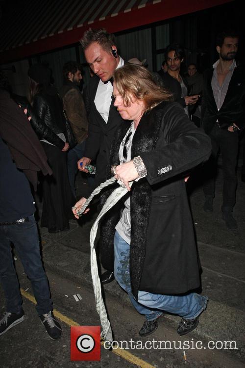 Axl Rose Leaving Tonteria Nightclub