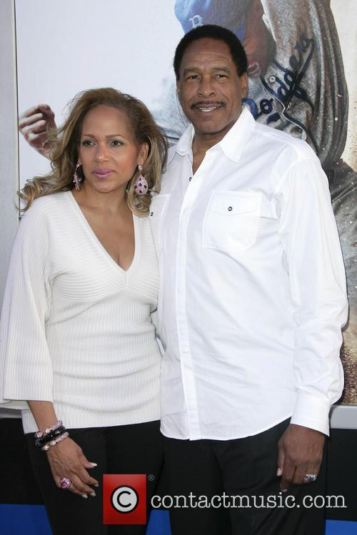 dave winfield wife los angeles premiere of 42 3597664