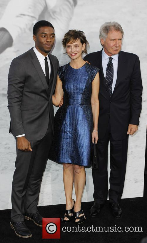 Chadwick Boseman, Harrison Ford, Calista Flockhart, 42 Premiere