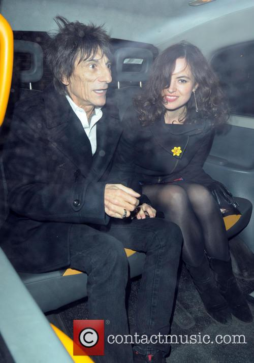 Ronnie Wood and Sally Humphreys 7