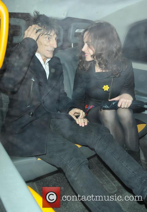 Ronnie Wood and Sally Humphreys 8