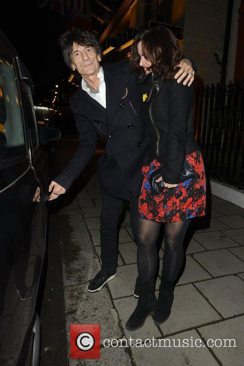Ronnie Wood and Sally Humphreys 10