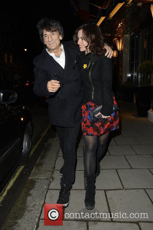 Ronnie Wood and Sally Humphreys 12