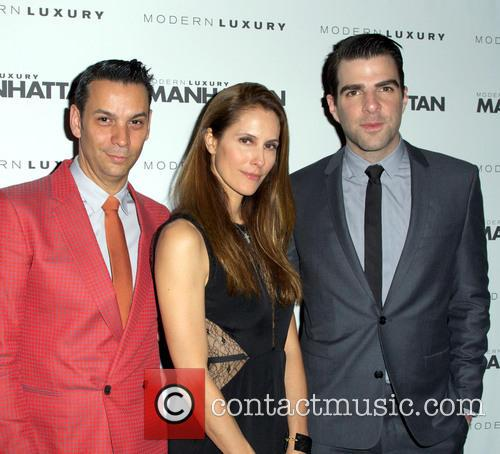 James Aguiar, Cristina Cuomo and Zachary Quinto