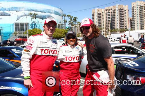Wanda Sykes, Dakota Meyer, Andy Bell, Toyoto Grand Prix Circuit