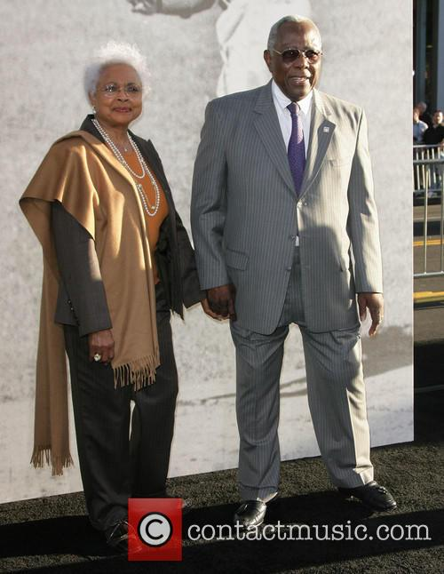 Hank Aaron and Wife 2
