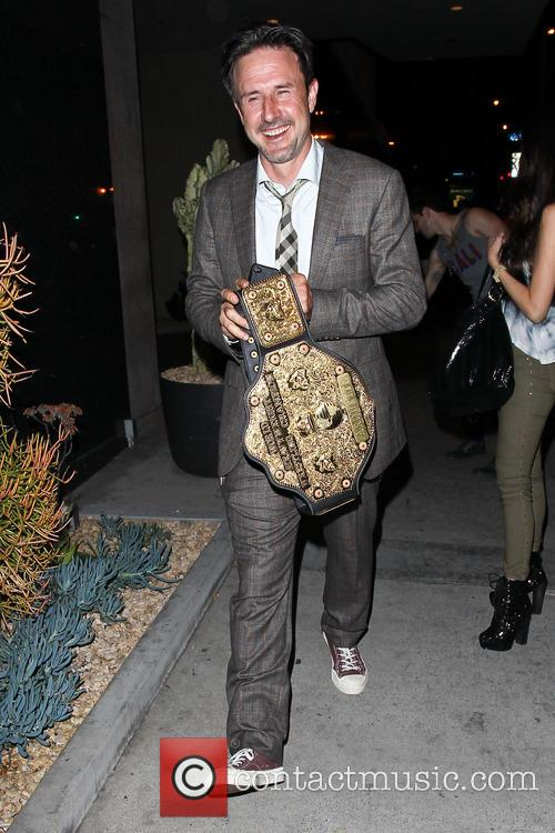 David Arquette outside Bootsy Bellows nightclub