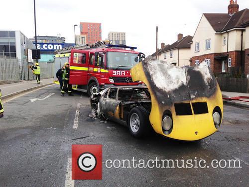 Lamborghini Catches Fire 3