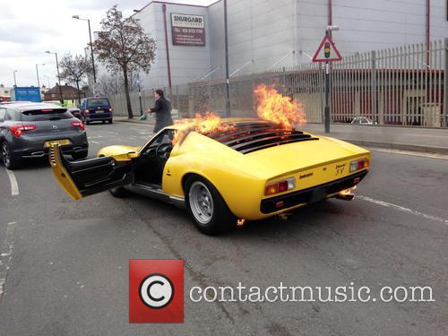 Lamborghini Catches Fire 1