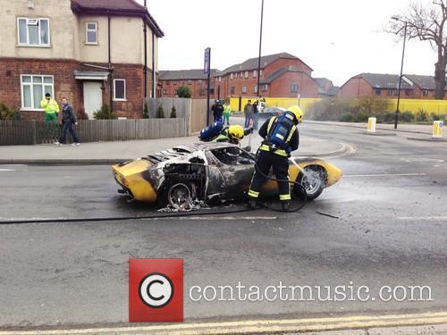 Lamborghini Catches Fire 5