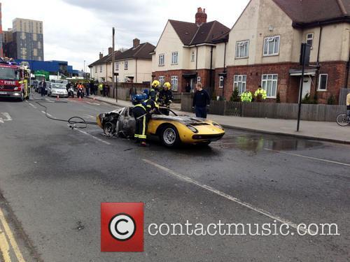 Lamborghini Catches Fire 6