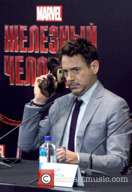 Iron Man 3 press conference at the Hotel...